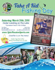 Lake Houston's Take A Kid Fishing - March 2016