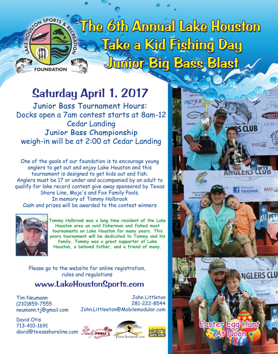 Take a Kid Fishing Day - Lake Houston April 2017